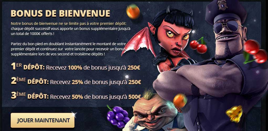 Bonus de bienvenue de Paris Casino