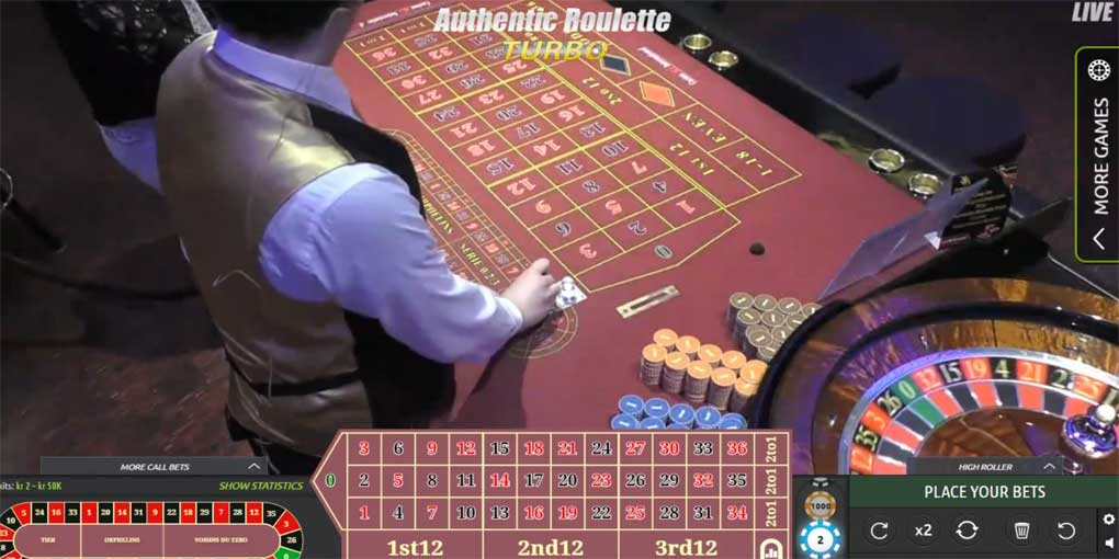 Authentic Gaming Roulette Live