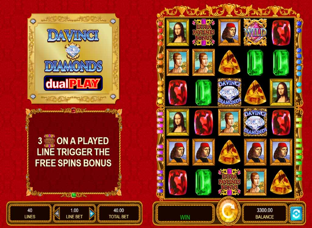 Jouer à Da Vinci Diamonds Dual Play
