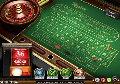 Aperçu Roulette Advanced Standard Limit