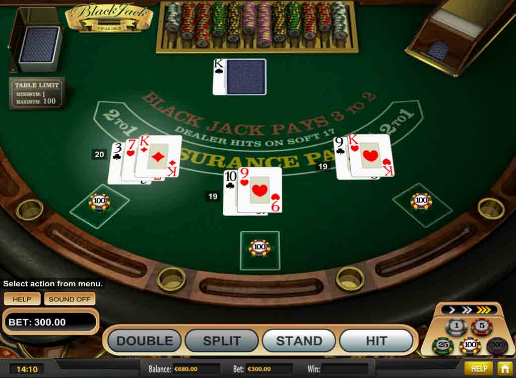 Jouer à Single Deck Blackjack