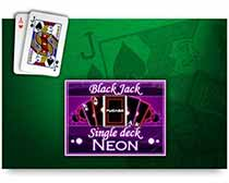Neon Blackjack Single Desk