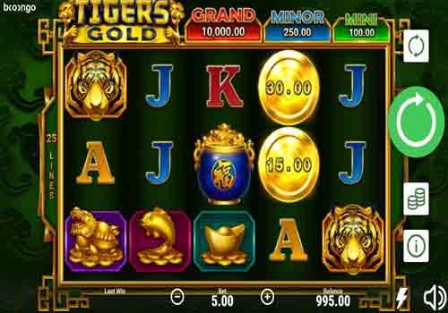 Machine à sous Tiger's Gold Hold and Win