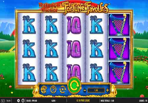 Machine à sous Rainbow Riches Fortune Favours