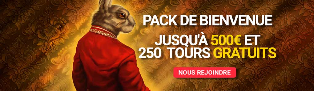 Bonus de bienvenue Royal Rabbit Casino