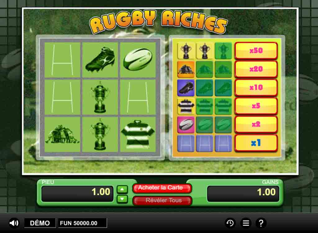 Jouer à Rugby Riches