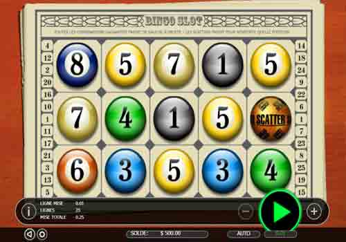 Machine à sous Bingo Slot