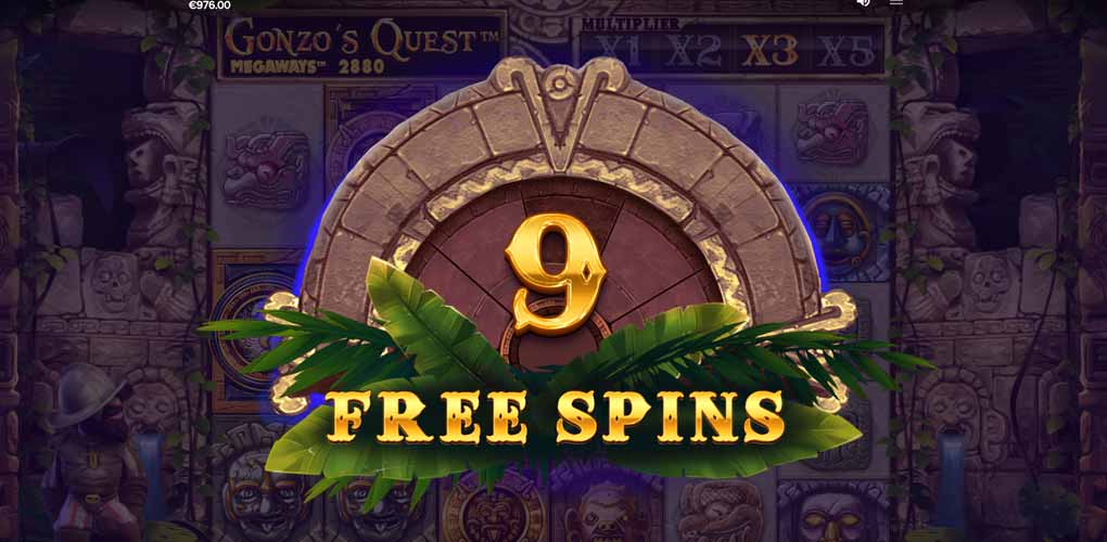 Free Spins de Gonzo's Quest Megaways