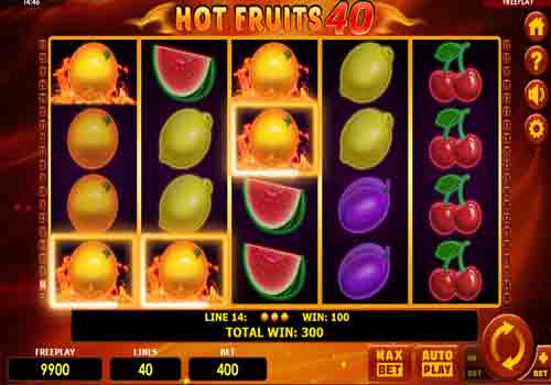 Machine à sous Hot Fruits 40