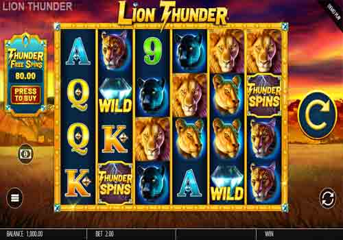 Machine à sous Lion Thunder