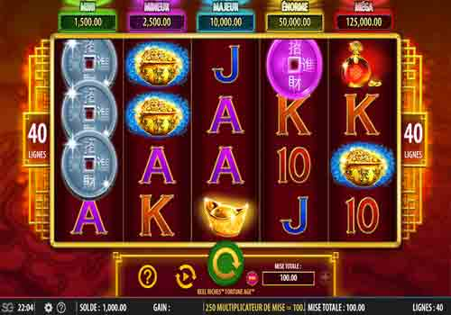 Mesin Slot Reel Riches Fortune Age
